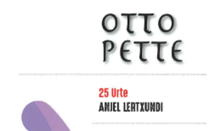 """La 12ª edición de la lectura de clásicos ininterrumpida ofrecerá la obra """"Otto Pette"""" de Anjel Lertxundi"""