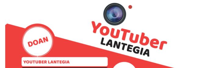 El próximo lunes, 7 de junio, se abrirá el plazo de inscripción en el programa B-tuber. Youtuber Izarren bila!, de ocio juvenil en euskera